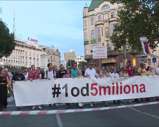 "Protest""1 od 5 miliona"" u Beogradu Foto: Tanjug/video"