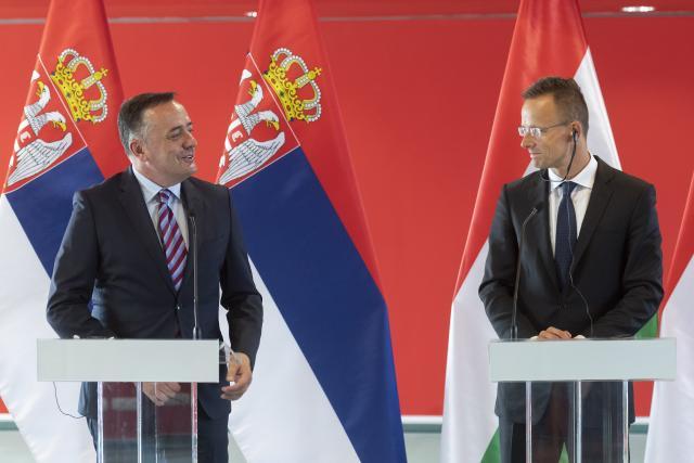 Aleksandar Antić i Peter Sijarto Foto Tanjug/ Ministarstvo rudarstva i energetike Srbije
