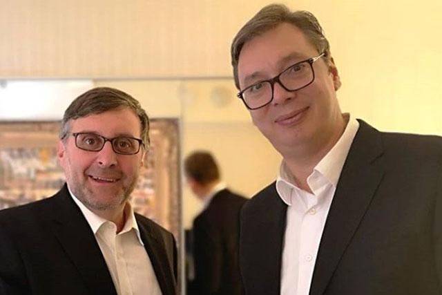 """Vučić i Palmer Foto: Tanjug/Instagram nalog """"budućnostsrbijeav"""""""