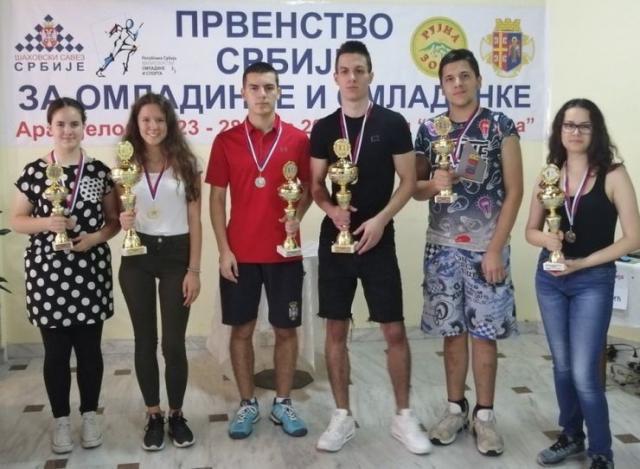 Pobednici ovogodišnjeg Prvenstva Srbije za omladinke i omladince Foto: privatna arhiva