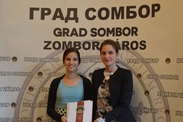 Tanja Nedeljkov i Dušanka Golubović Foto: Grad Sombor