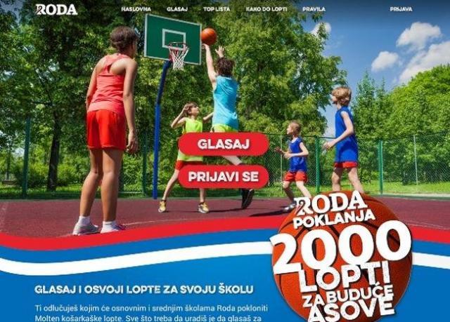 """Akcija """"2000 lopti za buduće asove"""" Foto: promo"""
