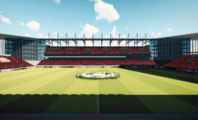 Uzgled budućeg Stadiona Karađorđe