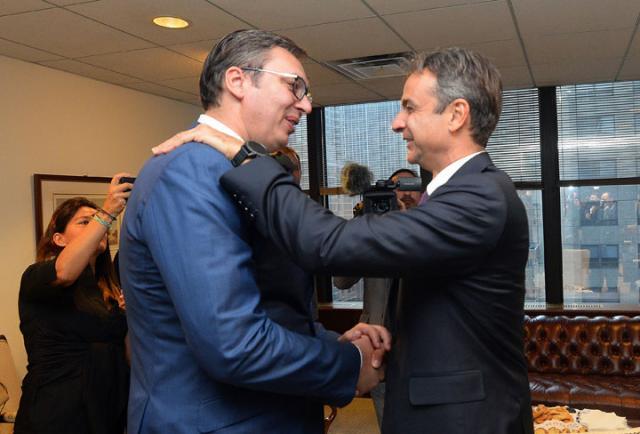 Vučić i Micotakis u Njujorku/Predsedništvo Srbije
