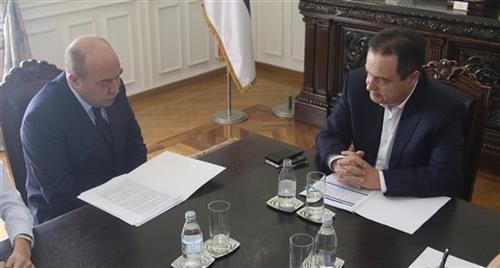 Ivica Dačić primio je ambasadora Republike Azerbejdžan Eldara Hasanova Foto: Tanjug/video