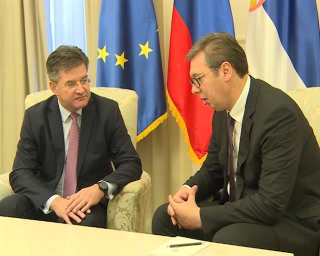 Vučić i Lajčak Foto: Tanjug/video