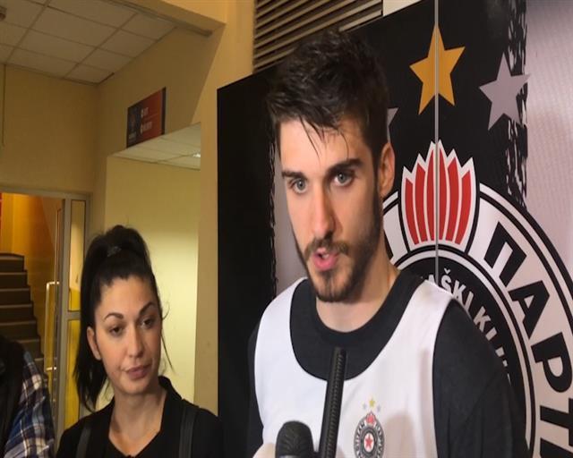 Krilni košarkaš Partizana Rade Zagorac Foto: Tanjug/video