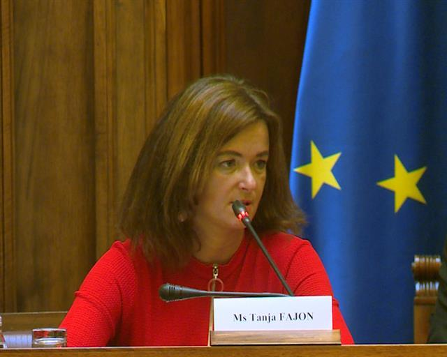 Predsednica odbora EP za stabilizaciju i pridruživanje Srbije EU Tanja Fajon Foto: Tanjug/video