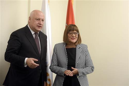 Maja Gojković i Džordž Tsereteli Foto: Tanjug/video