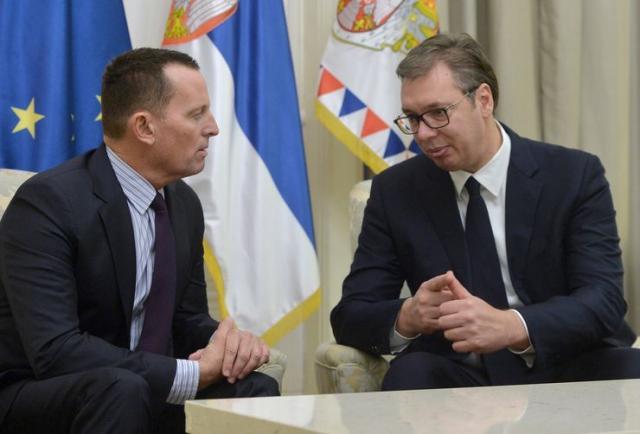 Vučić i Grenel Foto: Tanjug/Z. Žestić