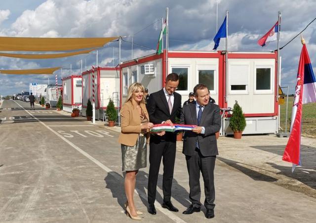 Otvoren novi granični prelaz između Srbije i Mađarske, Rabe - Kubekhaza Foto:Tanjug/ D. Eker