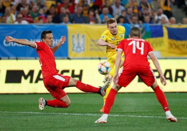 Momenat s utakmice u Lavovu između Ukrajine i Srbije Foto:FSS