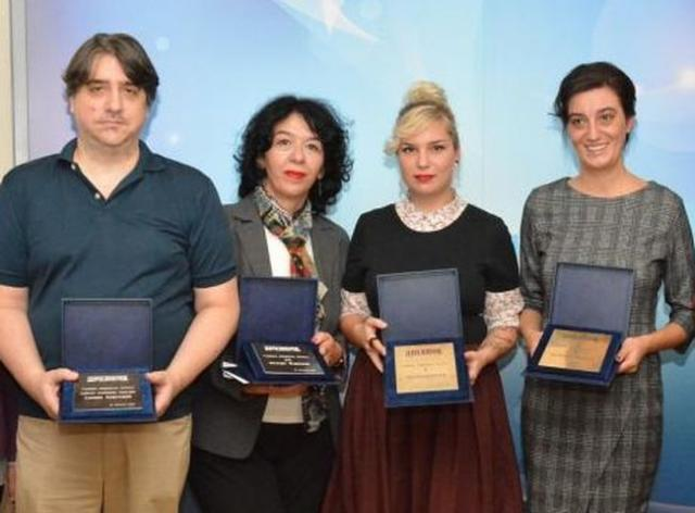 Laureati: Siniša Kovačević, Nataša Mirković, Lea Radlovački i Dubravka Nikolić foto: V.Fifa