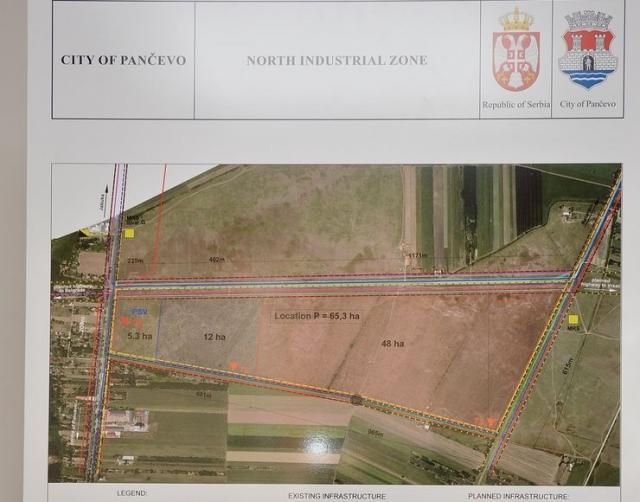"""Zemljište od 23 hektara koje je u vlasništvu države biće dato  """"Broseu"""" u vlasništvo radi izgradnje fabrike Foto: V. Fifa"""