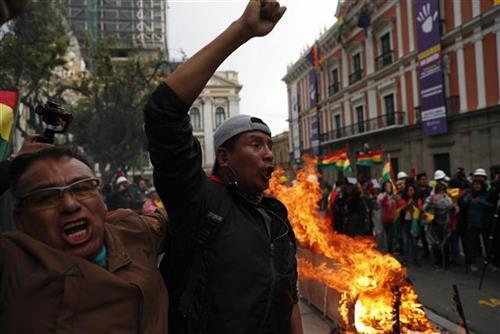 Protesti u Boliviji Foto: AP photo
