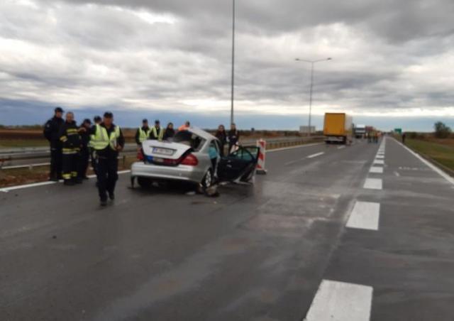 Saobraćajna nesreća na autoputu NS-BG kod Inđije  Foto: RTV