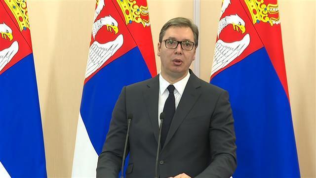 Predsednik Srbije Aleksandar Vučić na konferenciji za medije u Sočiju Foto: Tanjug/video