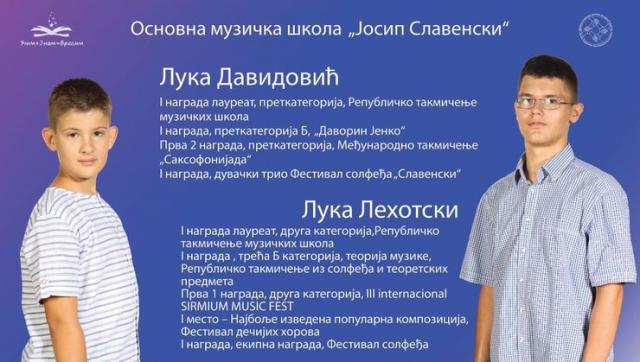 """NAJBOLjI NA BILBORDIMA: Luka Davidović i Luka Lehotski Foto:""""Učim + Znam = Vredim"""""""