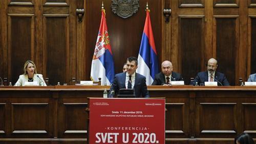 Zoran Đorđević otvorio konferenciju Ekonomist: Svet u 2020. Godini Foto: Tanjug/video