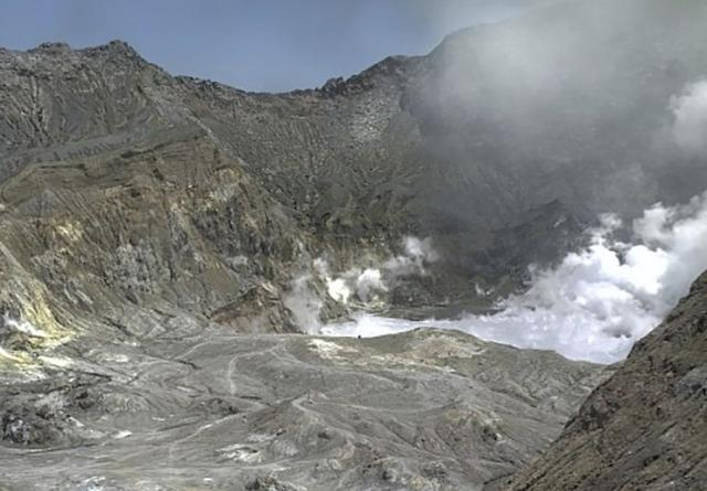 Erupcija vulkana na Novom Zelandu Foto: Alan Gibson/New Zealand Herald via AP;GeoNet va AP