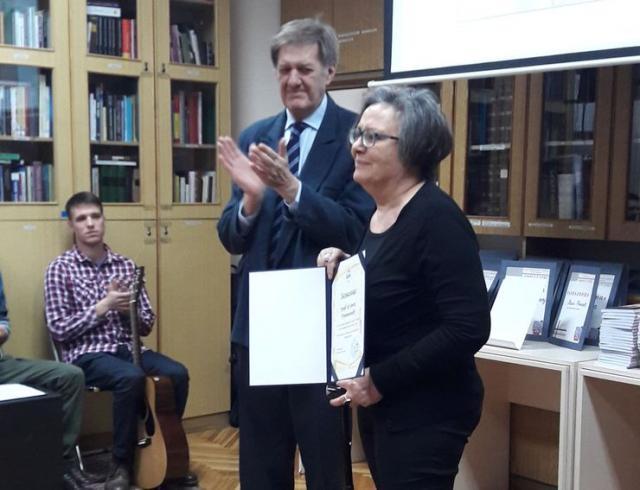 Direktor Gradske biblioteke Dragan Kojić i prof. dr Ljiljana Pešikan Ljuštanović Foto: B. Pavković