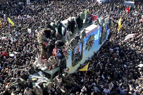 Sahrana iranskog generala Kasima Sulejmanija Foto: AP