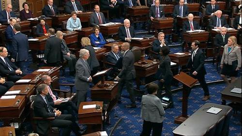 Senat SAD Foto: Senate Television via AP