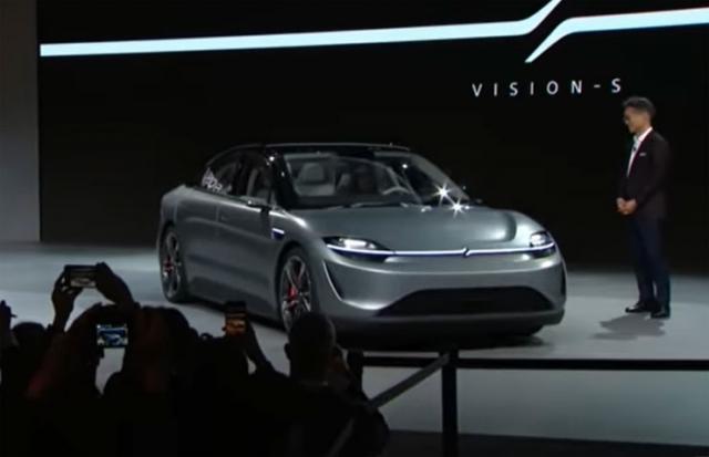 Soni prestavio električni automobil Vižn S Foto: Youtube/printscreen
