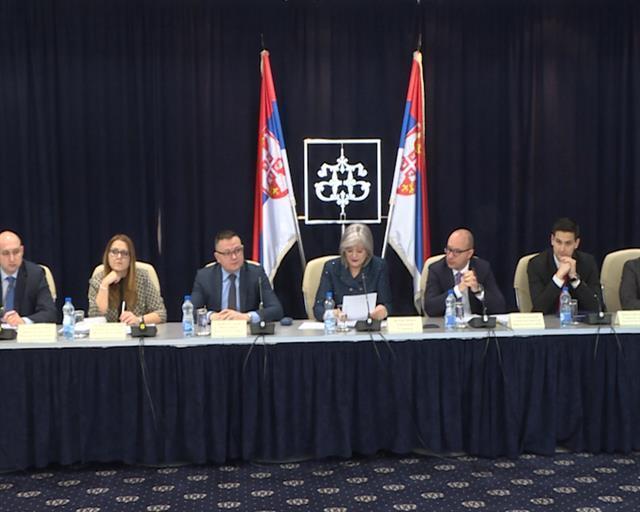 """Jorgovanka Tabaković na  prezentaciji februarskog """"Izveštaja o inflaciji"""" Foto: Tanjug/video"""