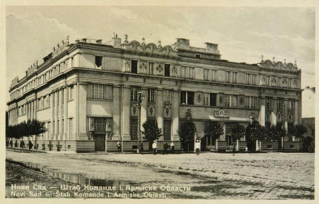 Zgrada prvobitne Komande prve armijske oblasti, 1925. Foto: Dokumentacija MSUV