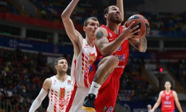 S utakmice između CSKA-a i Zvezde u Moskvi Foto: KK Crvena zvezda