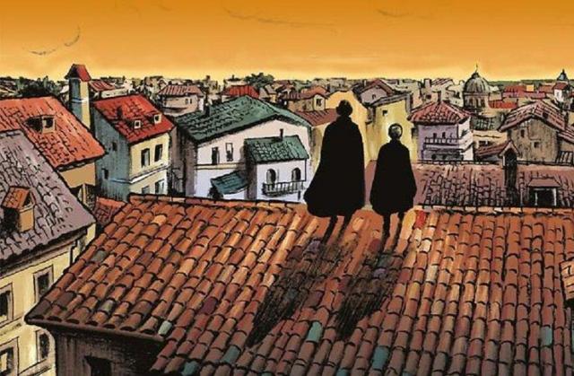 "Iz strip serijala ""Merkurio Loi"", Alesandro Bilota i drugi; izdavač Čarobna knjiga, 2019. Foto: privatna arhiva"