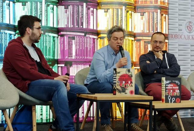 Moderator Dragan Babić, Marjan Čakarević i Alen Bešlić Foto: Dnevnik.rs
