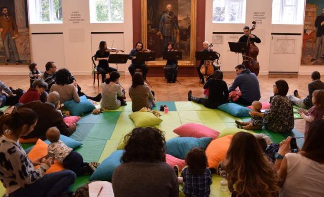 Koncert za bebe i roditelje u Galeriji Matice srpskefoto: GMS
