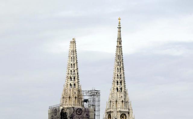 Zagreb, srusena Katedrala/Fonet/AP