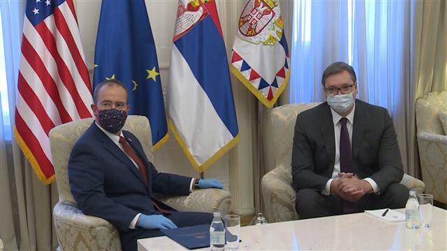 Vučić i Godfri Foto: Tanjug/video