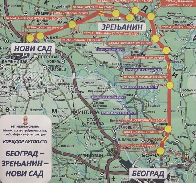 Plan za auto-put Beograd – Zrenjanin – Novi Sad Foto: Tanjug/Vlada Srbije