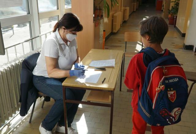 Početak rada škola posle zatvaranja zbog uvedenog vanrednog stanja zbog pandemije koronavirusa Foto: Tanjug/ D Kujundžić