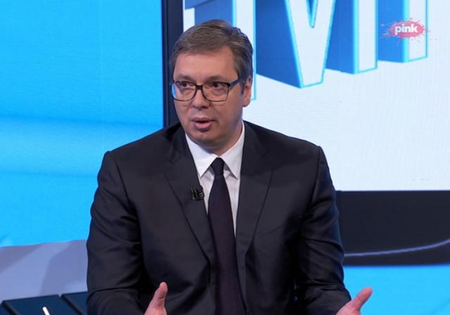 "Predsednik Srbije Aleksandar Vučić u ""Hit tvitu"" TV Pink foto: TV Pink/printskrin"