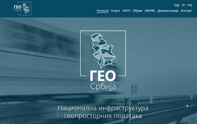 Digitalna platforma GeoSrbija  Foto: Dnevnik.rs/skrinšot