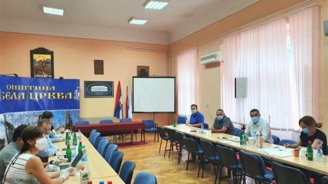"""Razgovori sa sa predstavnicima češke firme """"IMG Bohemia s.r.o"""" Foto: Opština Bela Crkva"""