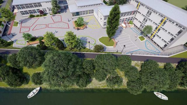 Prikaz budućeg uređenog dvorišta škole Foto: privatna arhiva
