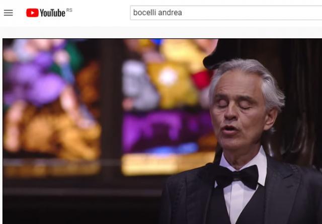 Andrea Bočeli Foto: Youtube/printscreen