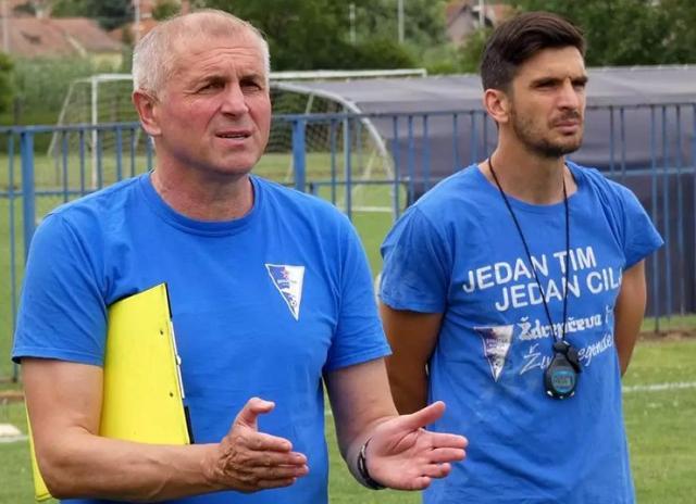 Treneri Spartaka Vladimir Gaćinović i Vladimir Buač Foto: privatna arhiva