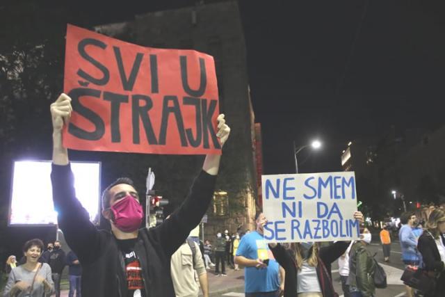 Protest u Beogradu/Fonet/Z. Mrdja