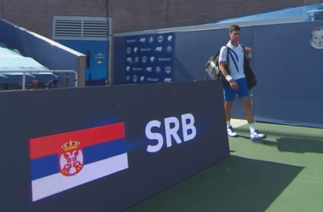 Novak Đoković na turniru u Sinsinatiju Foto: SK1/skrinšot