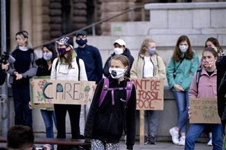 "Protesti ""Petkom za budućnost"" Foto: Janerik Henriksson/TT News Agency via AP"