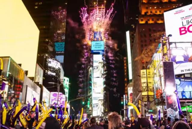 Doček Nove 2020.godine na Tajms Skveru Foto:Youtube/printscreen