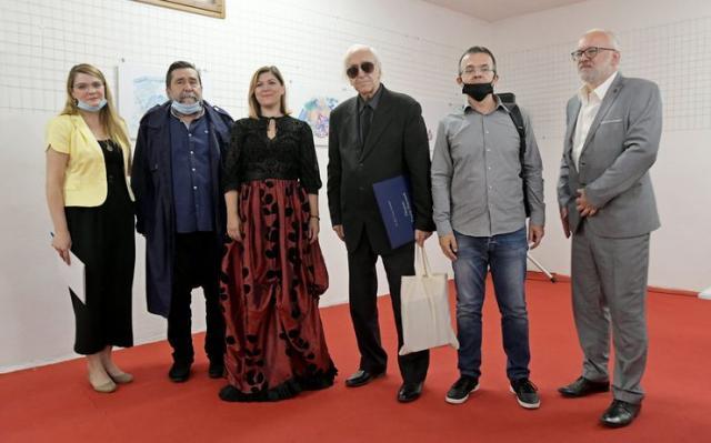 """Uručene Nagrade """"Teodor Pavlović"""" Zoranu Đeriću i Đorđu Kadijeviću Foto: Banatski kulturni centar"""