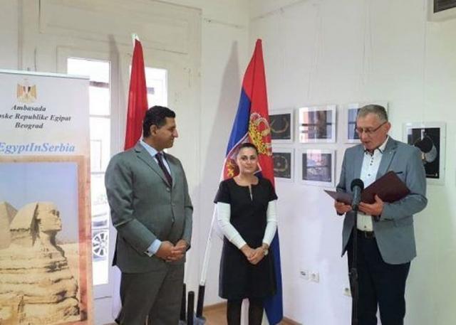 Ambasador Egipta na otvaranju izložbe Foto: eVršac